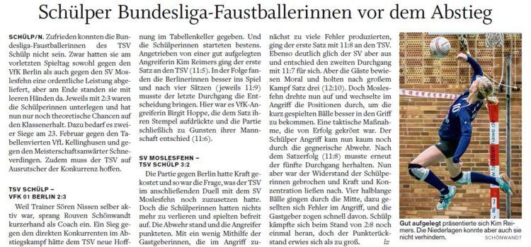 Bundesliga Nachberichte aus der LZ & der KN