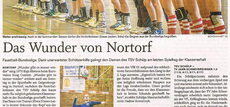 Nachbericht zum Bundesliga Wunder aus der Landeszeitung