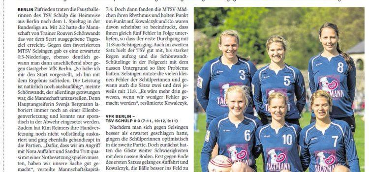 Pressespiegel zu ersten Spieltag der 1. Bundesliga