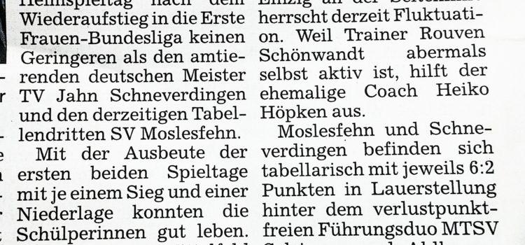 Vorbericht KN zum Bundesligaspieltag