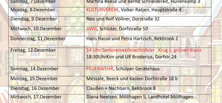 Der lebendiger Adventskalender in Schülp 2014