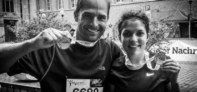 Yasmin und Rouven beim Kieler Halbmarathon